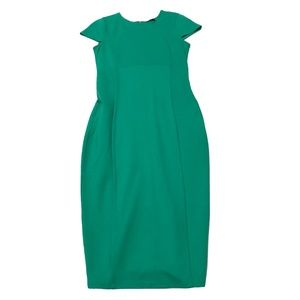 Felicity & Coco Green Seamed Pencil Work Dress S
